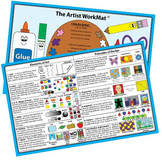 The Artist WorkMat : An Educational Placemat that makes clean up a SNAP!