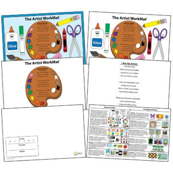 Artist WorkMat - Educational Placemat - Elements of Art & Principles of Design