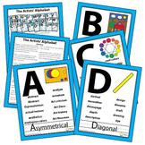 Art Word Wall Artist Alphabet Vocabulary Poster Elementary Art Education