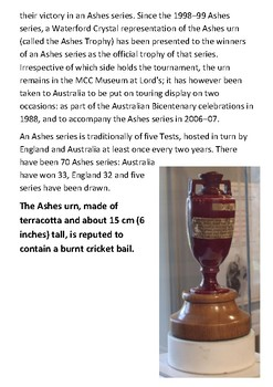 The Ashes Handout