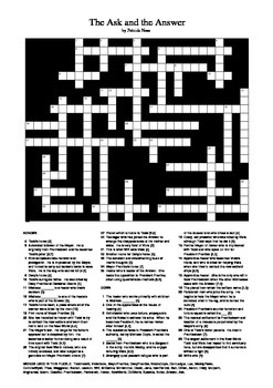 The Ask and the Answer - Crossword Puzzle
