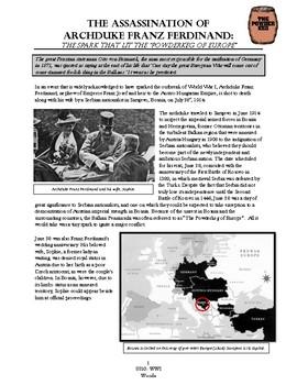 The Assassination of Archduke Ferdinand: The Spark that Lit the WWI Powderkeg