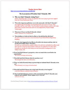 The Assassination of John F. Kennedy Primary Source Worksheet
