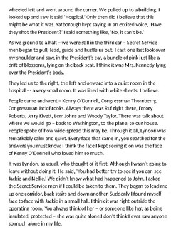 The Assassination of President John F. Kennedy, 1963 Eyewitness Handout