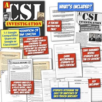 Abraham Lincoln Assassination: A CSI Investigation on Lincoln, Booth, Surratt!