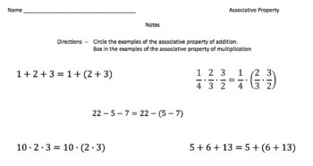The Associative Property (Google Form & Interactive Video Lesson!)
