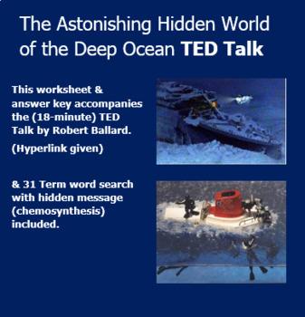 Chemosynthesis Hidden World of the Deep Ocean TED Talk Robert Ballard Worksheet