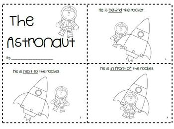 """The Astronaut""  Positional Word Book"