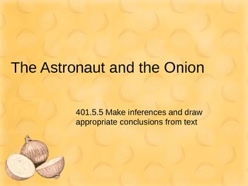 The Astronaut and the Onion Power Point