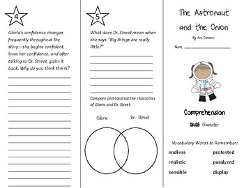 The Astronaut and the Onion Trifold - Treasures 4th Grade Unit 1 Week 4 (2011)