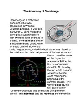 The Astronomy of Stonehenge Common Core Activity