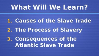 The Atlantic Slave Trade Lecture PowerPoint