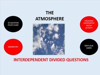 The Atmosphere:  Interdependent Divided Questions Activity