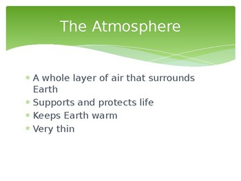 The Atmosphere PowerPoint