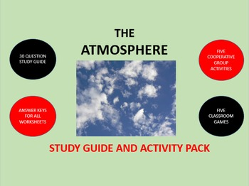 The Atmosphere:  Study Guide and Activity Pack