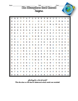 The Atmosphere - Word Search Enigma