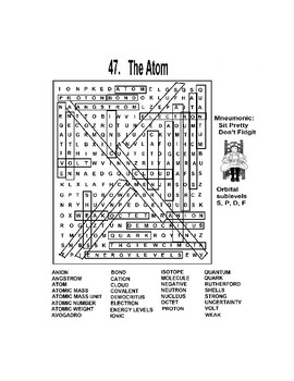 Atomic Word Search Puzzle
