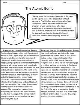 The Atomic Bomb: Graphic Organizer