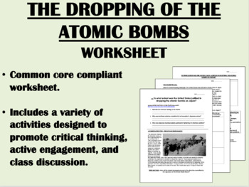 The Pacific Theater and the Atomic Bomb - Global/USH Common Core