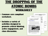 The Pacific Theater and the Atomic Bomb worksheet