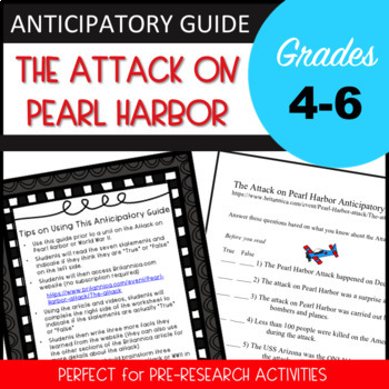The Attack on Pearl Harbor Anticipatory Guide