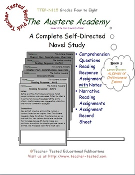 The Austere Academy (A Series of Unfortunate Events): A Complete Novel Study