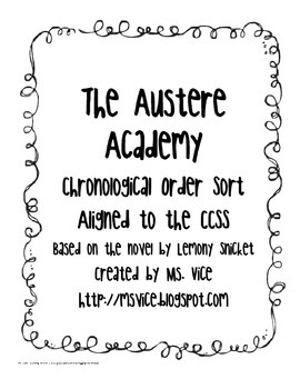 The Austere Academy Chronological Order Sort