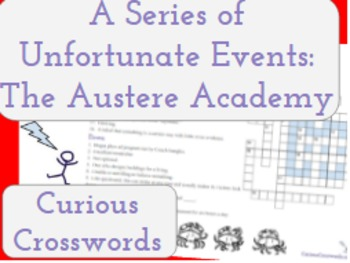 The Austere Academy- Worksheet (Book 5 Series of Unfortuna