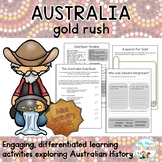 The Australian Gold Rush Mini Activity Pack