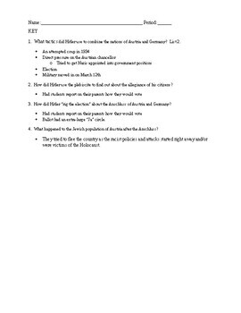 The Austrian Anschluss Quick Read: 1 Page Reading with Questions