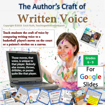 The Author's Craft of Written Voice | For Google Slides