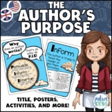 The Author's Purpose - Posters, Activity and Worksheet