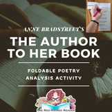 The Author to Her Book by Anne Bradstreet Foldable Poetry Analysis + answer key