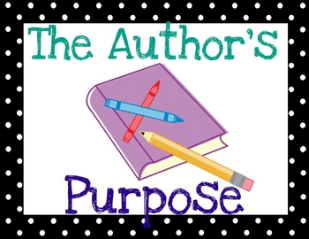 The Author's Purpose Posters