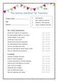 The Autism Checklist for Teachers