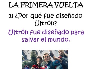 The Avengers: Age of Ultron - Spanish Movie Scenes Game - Los Vengadores