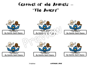 Aviary, The from Carnival of the Animals (Finger Puppets)