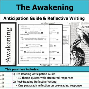 The Awakening by Kate Chopin - Anticipation Guide & Reflection Writing