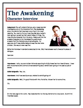 The Awakening - Character Interview writing assignment