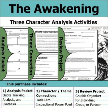 The Awakening by Kate Chopin - Character Analysis Packet, Theme, & Project