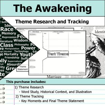 The Awakening by Kate Chopin - Theme Tracking Notes Etymology & Context Research