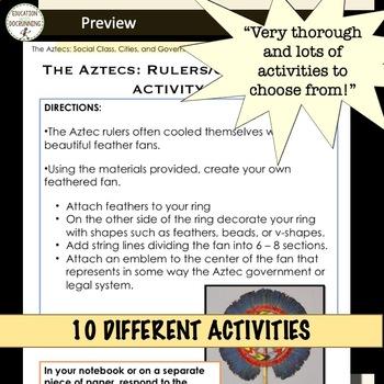 The Aztecs Bundle 10 Activities for MesoAmerica Unit
