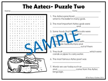 The Aztecs- Puzzles