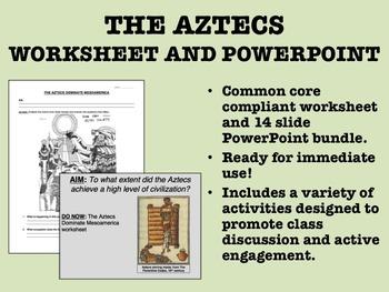 The Aztecs - Worksheet and PowerPoint Bundle - Global/Worl