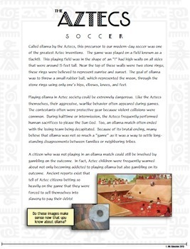 Aztecs and Their Inventions:  Students Navigate Through Four Aztec Marvels!