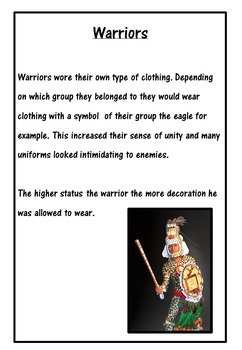 The Aztecs everyday life; clothing