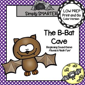 The B-Bat Cave:  LOW PREP Bat Themed Beginning Sound Game