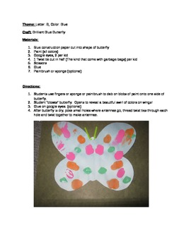 """The """"B"""" says """"buh"""": Lesson Plans/Butterfly Craft/Template/"""