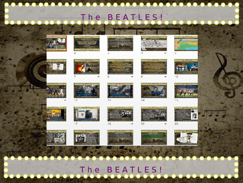 The BEATLES: 25 slides with text, hyperlinks & primary sources (with handouts)