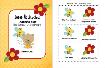 The BEE Attitudes - Teaching Kids The Sermon on the Mount (Matthew 5:3-10)